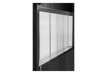 Glass telescopic doors
